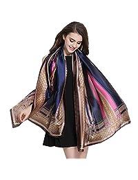 K-ELewon Silk Scarf Fashion Scarves Long Lightweight Shawls for Women 063