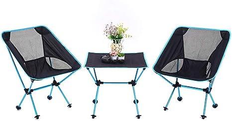 Mesa y sillas Plegables de Aluminio Juego de Mesa Plegables para Barbacoa y Barbacoa portátil al Aire Libre 3 Juegos de Mesa y sillas Plegables y portátiles para Llevar al Aire Libre: