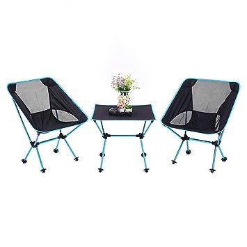 Mesa y sillas Plegables de Aluminio Juego de Mesa Plegables ...
