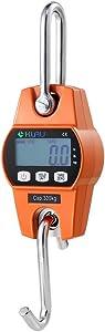 Klau Digital Hanging Scale High Precision Sensor 300 kg / 600 lb OCS-L Heavy Duty Industrial Crane Scales Smart Hoist Orange for Home Indoor Farm Factory Hunting Outdoor