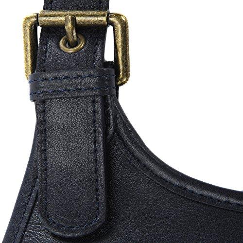 main modèle nouvelle Cuir 2018 Bleu souple bandoulière cuir sac à collection Destock Fonce monroe ztRZRa0qT