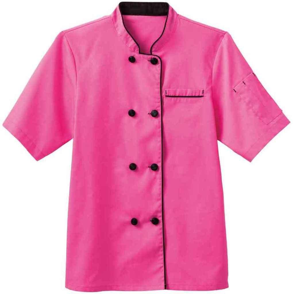 White Swan Short Sleeve Ladies Short Sleeve Executive Coat, XS, Posh Pink