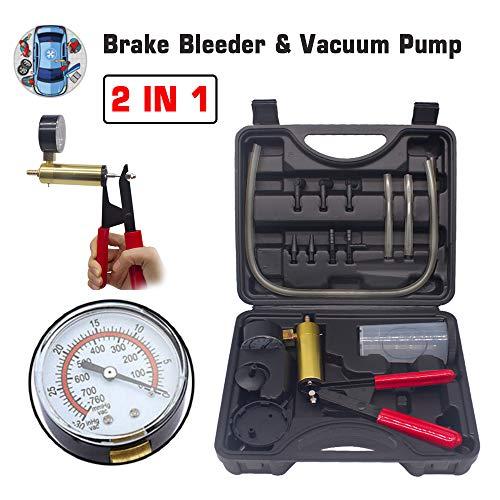 HTOMT 2 in 1 Brake Bleeder Kit Hand held Vacuum
