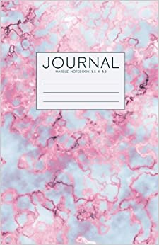 Book Journal: Pink And Blue Marble Notebook 5.5 x 8.5 (Journal To Write In)