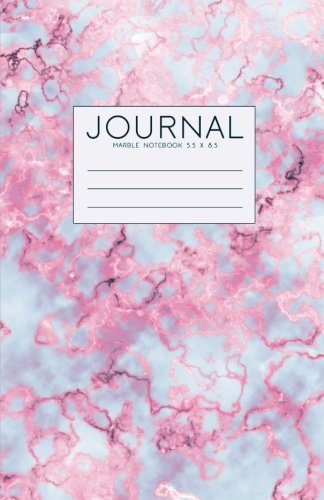 Read Online Journal: Pink And Blue Marble Notebook 5.5 x 8.5 (Journal To Write In) PDF