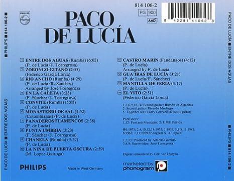 Entre DOS Aguas: De Lucia,Paco: Amazon.es: Música