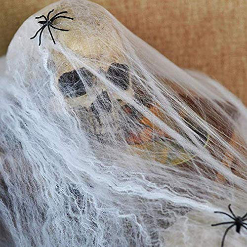 800 sqft Fake Spider Web Halloween Party Decorations Props 800 sqft with 50 Fake Spiders
