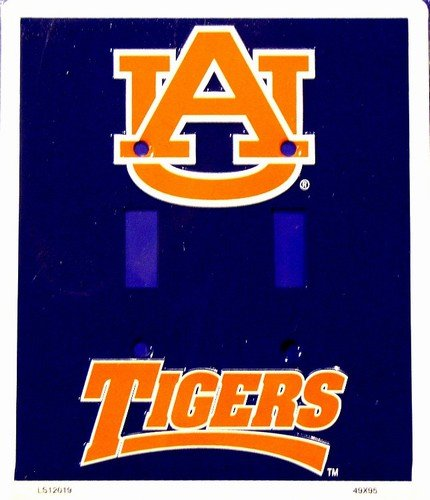 University of Auburn Tigers War Eagle Collegiate Vanity Metal Novelty Double Light Switch Cover Plate LS12019 ()