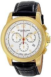 Stuhrling Original Men's 7173 Octane Targa Courant Analog Display Swiss Quartz Black Watch