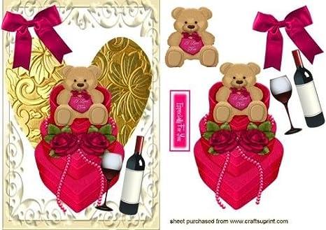 Osito de peluche con corazones y rosas por Nick Bowley