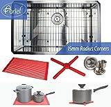 Premium 30 Inch Stainless Steel Kitchen Sink Package By Ariel - 16 Gauge Undermount Single Bowl Basin - Complete Sink Pack + Bonus Kitchen Accessories - Ideal For Home Improvement
