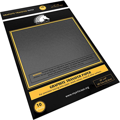 Graphite Transfer Tracing Carbon Paper - 10 Sheets - 18