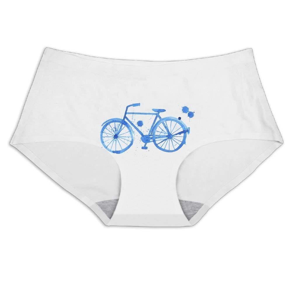 Blue Painting Bike Women's Underwear Seamless Ice Silk Panties Briefs  Lingerie Sex at Amazon Women's Clothing store: