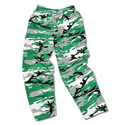 Zubaz NCAA North Dakota Men's Camo Print Team Logo Casual Active Pants, Large, Green/Gray/Black