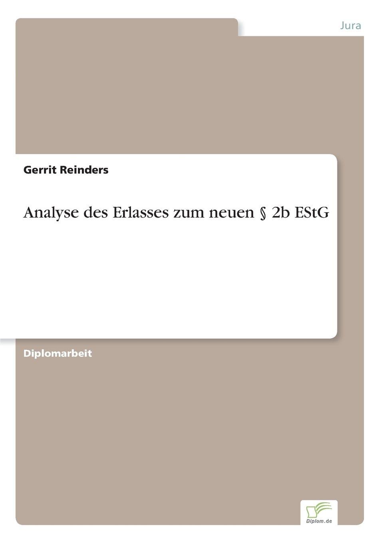 Download Analyse des Erlasses zum neuen § 2b EStG (German Edition) ebook