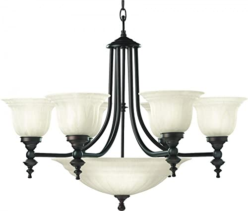 Dolan Designs 665-30 6 3Lt Royal Bronze Richland 9 Light Bowl Chandelier
