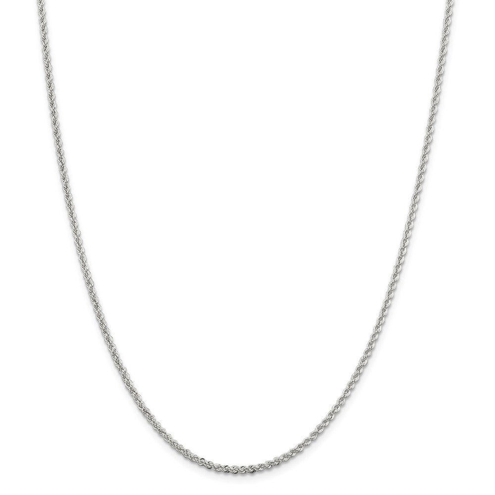 925 Sterling Silver 2.3mm Solid Rope Chain