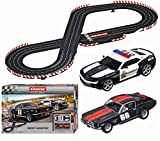 Carrera Evolution Most Wanted Slot Car Race Set 1:24 Scale Analog Track System - Includes Two 1:32 Scale Cars: Chevrolet Camaro Sheriff and Ford Mustang GT No. 66-2 Dual-Speed Controllers Ages 8+