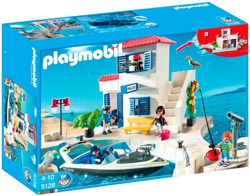 PLAYMOBIL Harbor Police Station with Speedboat