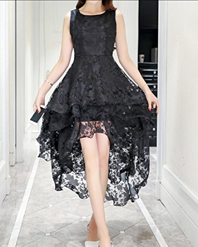 Coolred-femmes Bechwear Bouffantes Mode Mi-longue Robe De Cocktail Noire Machaon