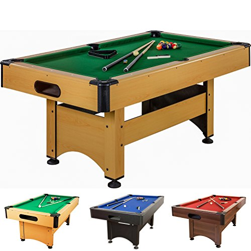 Pool Billard Billardtisch Trendline, verschiedene Farbvarianten, 5 ft, massive Ausführung + Zubehör.