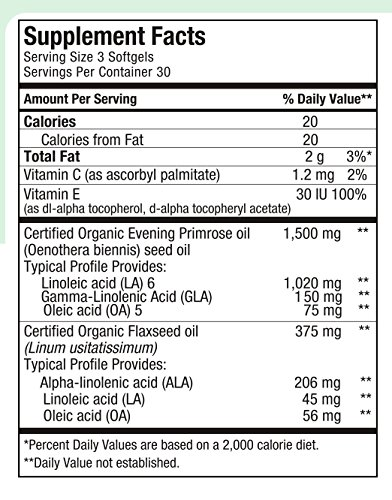 Maxi Health Premium EPO - Evening Primrose with Flax Seed Oil - with Omega-3-180 Softgels - Kosher by Maxi Health (Image #1)