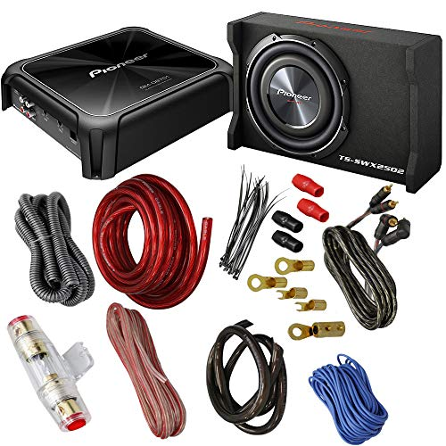 CACHÉ KIT2294 Bundle With Complete Car Subwoofer Package With 300 Watts RMS Power at 4 Ohms-1600 Watts Max At 4 Ohm Class-D Amplifier, 10 Inch Shallow-Mount Pre-Loaded Enclosure, Amp Wire Kit (3 item)