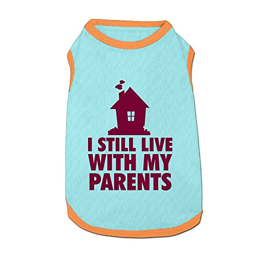 I Still Live With My Parents Puppy Dogs Shirts Costume Pets Clothing Warm Vest T-shirt Large