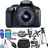 Canon EOS Rebel T6 DSLR Camera with 18-55mm Lens 1159C003 (Black) [International Version] (Pro Bundle)