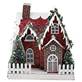 7.5'' Holiday Moments LED Lit Holiday House Christmas Decoration –Warm White Lights