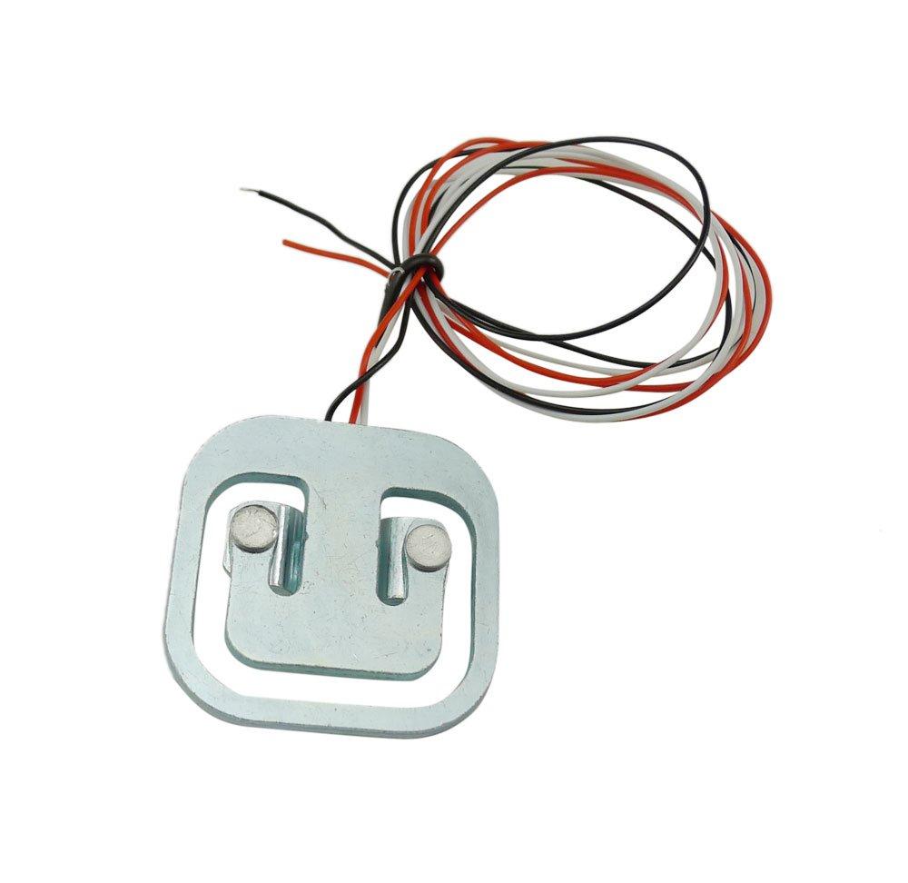 Aihasd 4PCS Humana Peso de celda de Carga Sensor de Ponderación Medio Puente 50KG con Amplificador HX711 Módulo AD Medidor de Esfuerzo Báscula de Baño: ...