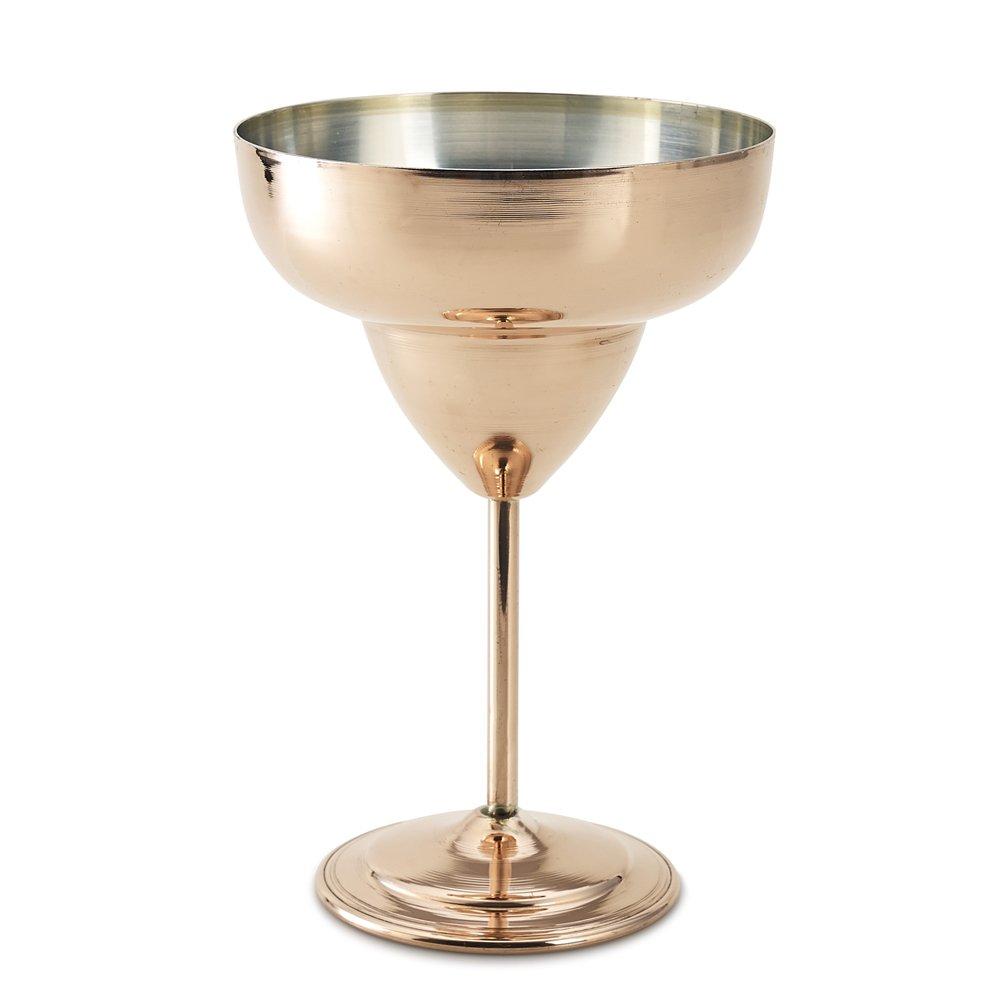 Kuprum Copper Tinned Margarita Glass, 17 oz