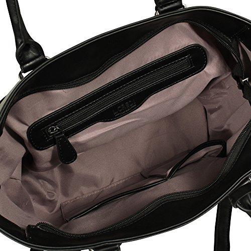 L. CREDI Damen Handtasche Montpellier 309-5343 schwarz