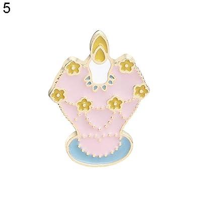 2c54c2e48ee35 Amazon.com  Finance Plan Cartoon Ice Cream Bottle Girl Rabbit Brooch ...