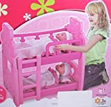 Playset Toy Bunk Bed for Baby Dolls Up to 15