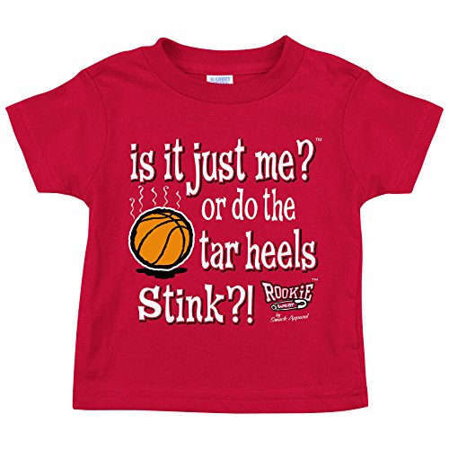 Smack Apparel North Carolina State Fans. is it Just Me or do The Tarheels Stink?! Red Toddler Tee (2T-4T) - Pajamas Nc Wolfpack State