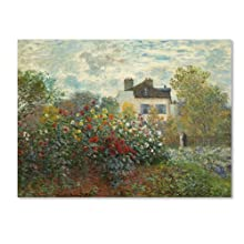 The Artist's Garden in Argenteuil Artwork by Claude Monet, 24 by 32-Inch Canvas Wall Art