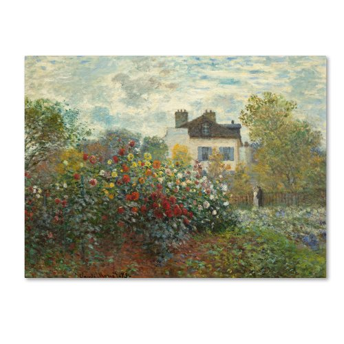 The Artist's Garden in Argenteuil Artwork by Claude Monet, 24 by 32-Inch Canvas Wall Art ()