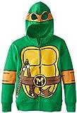 Nickelodeon Little Boys' Teenage Mutant Ninja Turtles Costume Hoodie, Shell Green, 5/6
