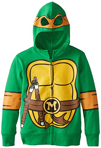 Nickelodeon Little Boys' Teenage Mutant Ninja Turtles Costume Hoodie, Shell Green, 7