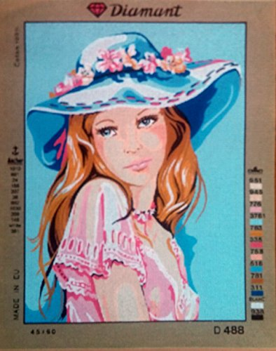 LADY IN A BONNET NEEDLEPOINT CANVAS