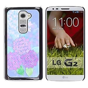 Aparición de Lirios Blancos - Metal de aluminio y de plástico duro Caja del teléfono - Negro - LG G2
