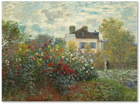 The Artist's Garden in Argenteuil Artwork by Claude Monet, 18 by 24-Inch Canvas Wall Art