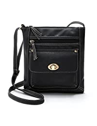 Coromose Womens Leather Satchel Cross Body Shoulder Messenger Bag