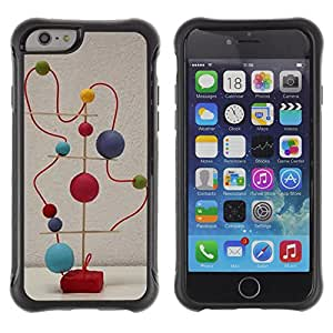Be-Star único patrón Impacto Shock - Absorción y Anti-Arañazos Funda Carcasa Case Bumper Para Apple iPhone 6(4.7 inches) ( Balls Modern Abstract Art Structure Statue )