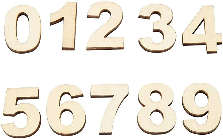 250 Adhesive Letters /& Digits Craft Alphabet Decoration NF15 2cm Wooden Small