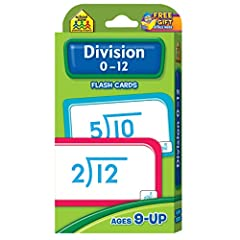 """Find our complete line of educational resources at Amazon.com/SchoolZonePublishing. CARD FEATURES Set includes 56 cards: 52 division cards, 3 information cards, 1 parent card For ages 9+ Large 3.0"""" x 5.575"""" cards with easy-to-sort rounded cor..."""