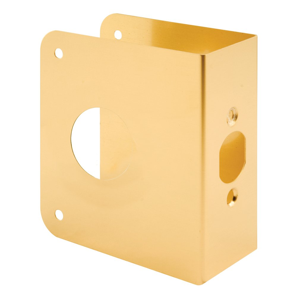 Defender Security U 9565 Non-Recessed Door Reinforcer 1-3/4-Inch Thick by 2-3/8-Inch Backset 1-1/2-Inch Bore, Brass