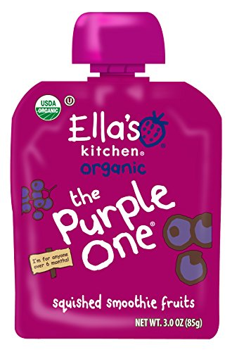 (Ella's Kitchen 6+ Months Organic Smoothie Fruits, The Purple One, 3 oz. (Pack of 6))