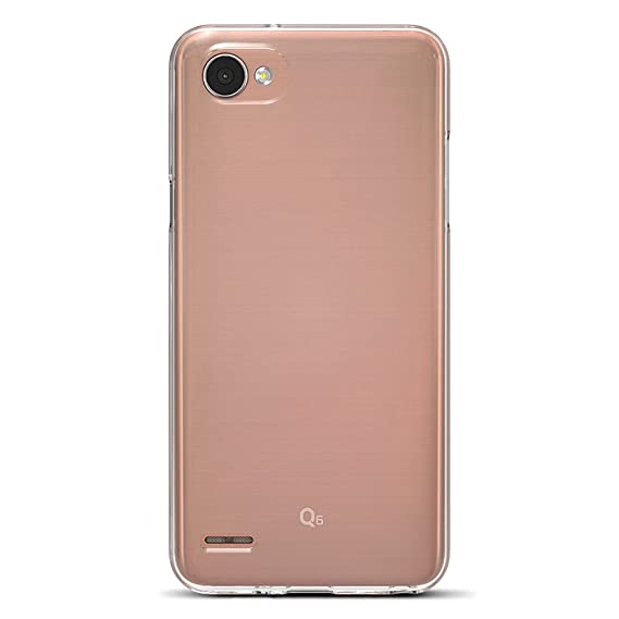 info for a43c5 ccbdd Amazon Brand - Solimo LG Q6 Mobile Cover (Soft & Flexible Back case),  Transparent
